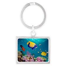 Tropical reef fish Landscape Keychain