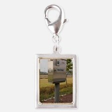 Traffic control cabinet with Silver Portrait Charm