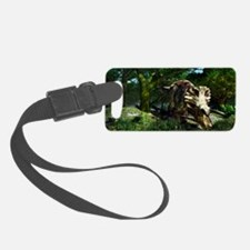 Triceratops drinking at a pond,  Luggage Tag