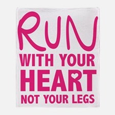 Run with your Heart Throw Blanket