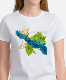 Transcription factor-DNA, molecula Women's T-Shirt
