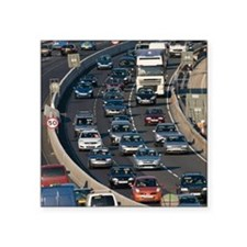 "Traffic jam, UK Square Sticker 3"" x 3"""