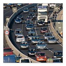 "Traffic jam, UK Square Car Magnet 3"" x 3"""