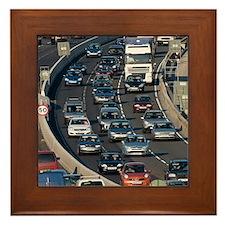 Traffic jam, UK Framed Tile