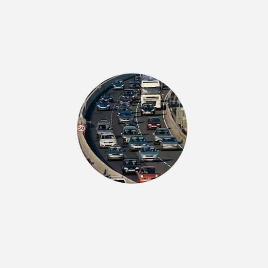 Traffic jam, UK Mini Button
