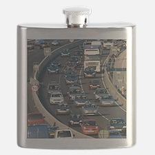 Traffic jam, UK Flask