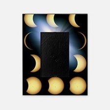 Total solar eclipse, artwork Picture Frame