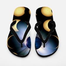 Total solar eclipse, artwork Flip Flops