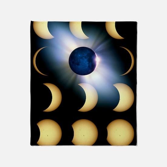 Total solar eclipse, artwork Throw Blanket