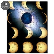 Total solar eclipse, artwork Puzzle