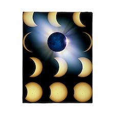 Total solar eclipse, artwork Twin Duvet