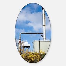 Total Bitumen plant, UK Sticker (Oval)