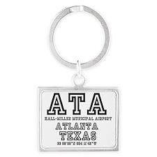 TEXAS - AIRPORT CODES - ATA - H Landscape Keychain