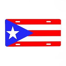 Puerto Rico Flag Aluminum License Plate