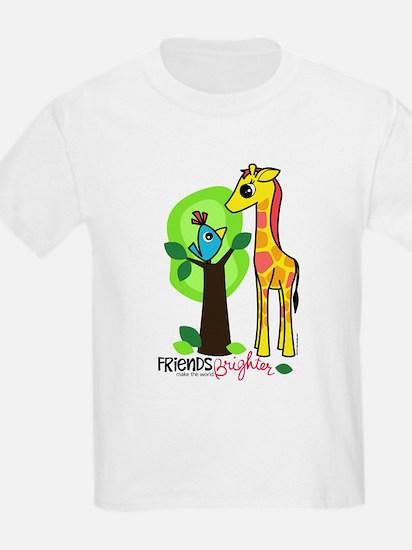 """Giraffe / Bird """"Friends"""" Kids T-Shirt"""