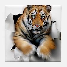 Tiger, artwork Tile Coaster