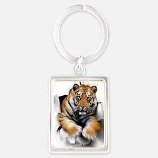 Tiger, artwork Portrait Keychain