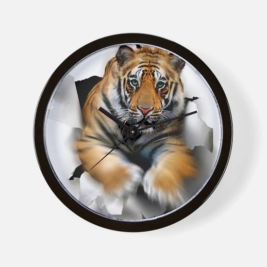 Tiger, artwork Wall Clock