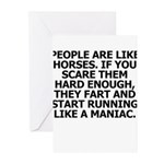 People Are Like Horses Greeting Cards