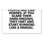People Are Like Horses Sticker
