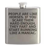 People Are Like Horses Flask