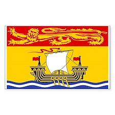 New Brunswick Flag Rectangle Decal