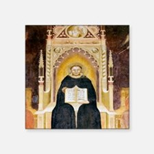 "Thomas Aquinas, Italian pri Square Sticker 3"" x 3"""