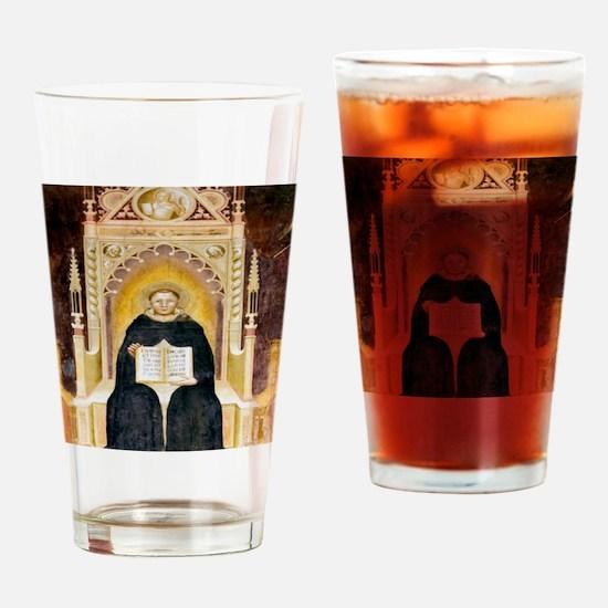 Thomas Aquinas, Italian priest Drinking Glass