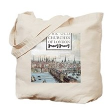 The Old Churches of London, 1942 book Tote Bag