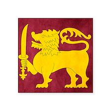 "Sri Lanka Lion Cricket Square Sticker 3"" x 3"""