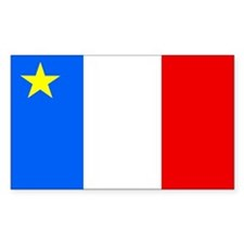 Acadia Flag Rectangle Decal