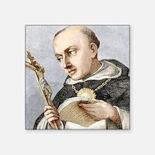"Thomas Aquinas, Italian the Square Sticker 3"" x 3"""