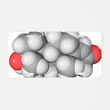Testosterone hormone, molec Aluminum License Plate