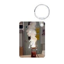 Thermite reaction Aluminum Photo Keychain