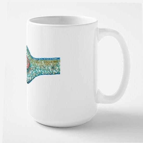 Tea leaf, light micrograph Large Mug