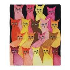 Hawaii Stray Cats by Lori Alexander Throw Blanket