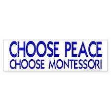 Choose Peace Bumper Car Sticker