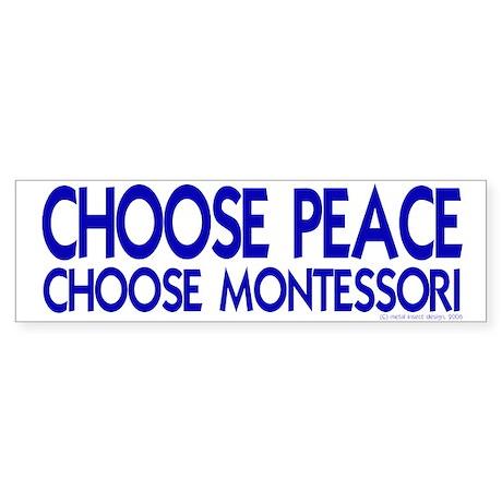 Choose Peace Bumper Sticker