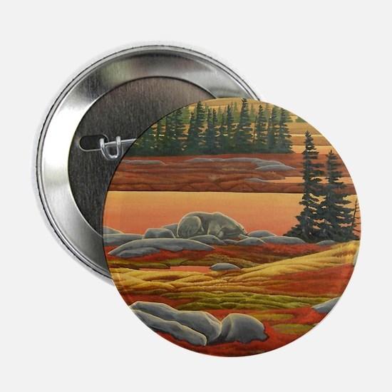 Polar Bear Button Arctic Landscape painting