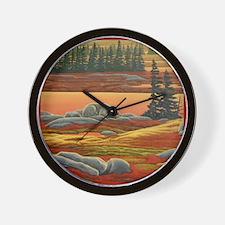 Arctic Art Polar Bear Wall Clock