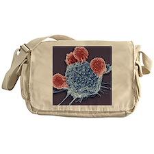 T lymphocytes and cancer cell, SEM Messenger Bag
