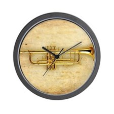 Trumpet (square) Wall Clock