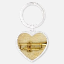 Trumpet (square) Heart Keychain
