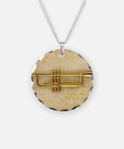Trumpet (square) Necklace Circle Charm