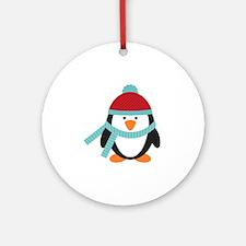 Cold Penguin  Round Ornament