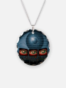 Surveillance, conceptual ima Necklace Circle Charm