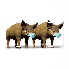 Swine flu, conceptual image Aluminum License Plate