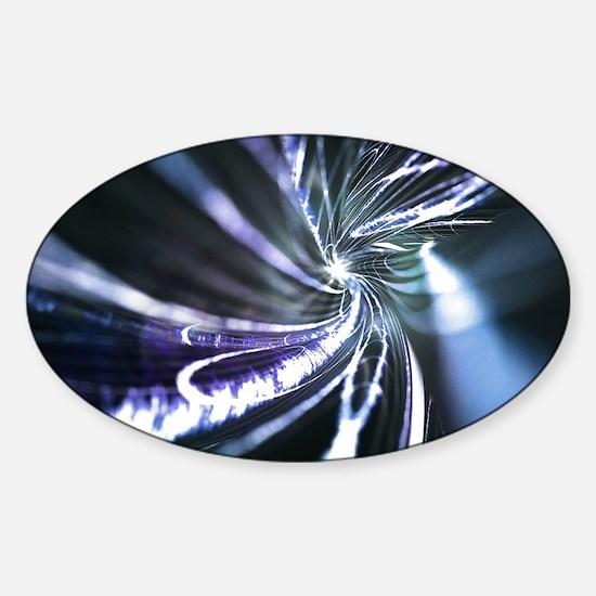Superconductor, conceptual image Sticker (Oval)