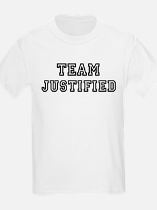 Team JUSTIFIED Kids T-Shirt