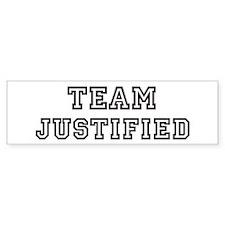 Team JUSTIFIED Bumper Bumper Sticker